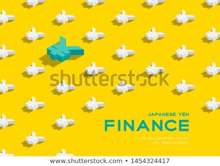 Japoński jen podpisania żółty wektora ikona Zdjęcia stock © rizwanali3d