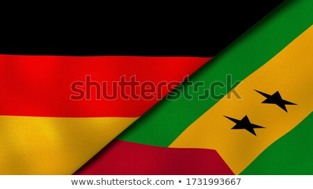 Germany and Sao Tome and Principe Flags Stock photo © Istanbul2009