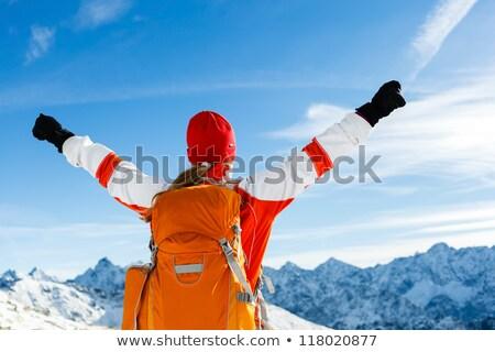 Photo stock: Montagnes · belle · inspiré · hiver · paysage · montagne