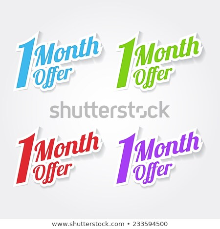 1 Month Deal Green Vector Icon Design Stock photo © rizwanali3d