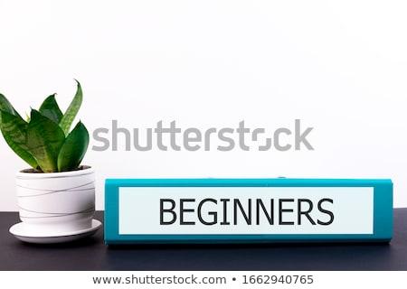 beginners on office folder toned image stock photo © tashatuvango