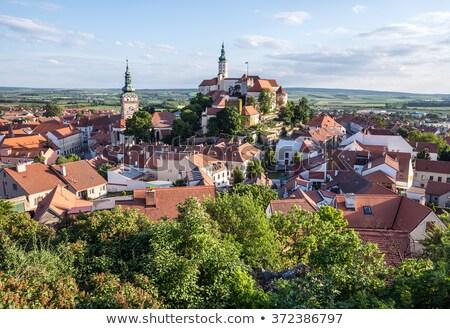 Csehország kastély építészet városkép város kint Stock fotó © phbcz