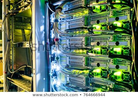 Szerver rack futurisztikus izometrikus 3D ikon számítógép Stock fotó © Vectorminator