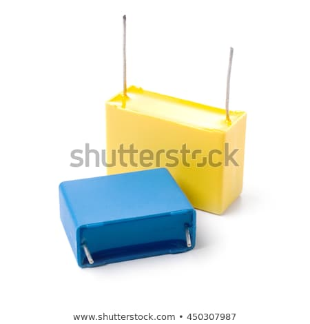 Yellow plastic-film capacitor isolated on white background. Stock photo © Leonardi