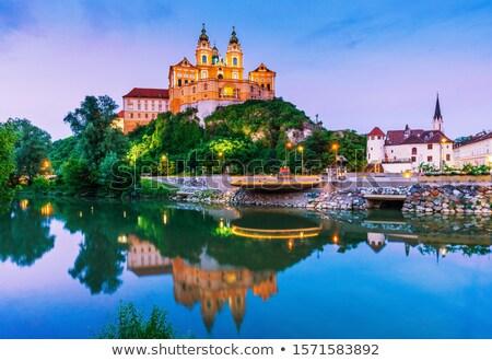 снизить Австрия живописный реке Дунай закат Сток-фото © meinzahn