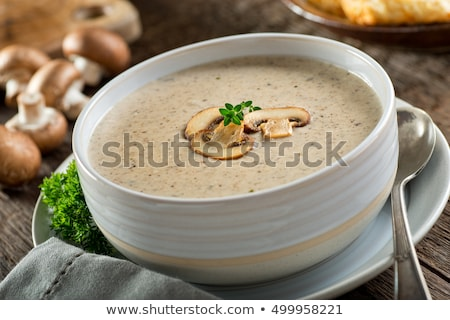 Delicious homemade cream of mushroom soup Stock photo © ozgur
