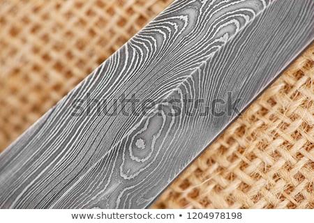 old handmade knife over white Stock photo © taviphoto