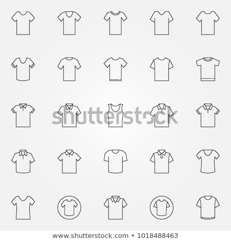 Blank Tshirt Icon Illustration sign design Stock photo © kiddaikiddee