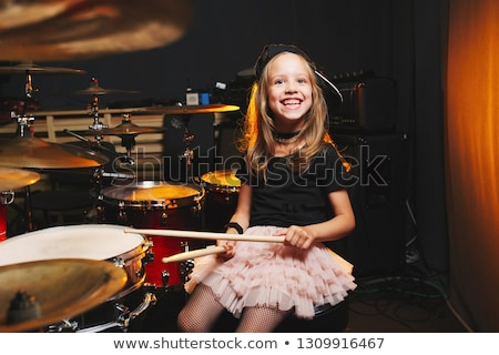 child on drums Stock photo © adrenalina