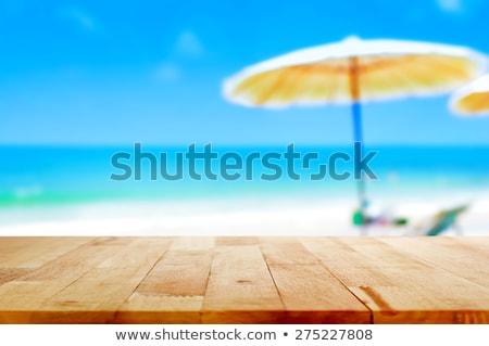 Tavola ombrellone illustrazione bianco sfondo pioggia Foto d'archivio © bluering