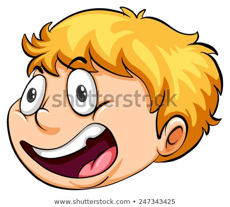 a head of a boy running against the clock stock photo © bluering