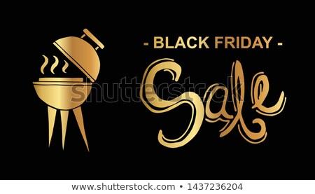 Black friday venda fogo etiqueta eps 10 Foto stock © beholdereye
