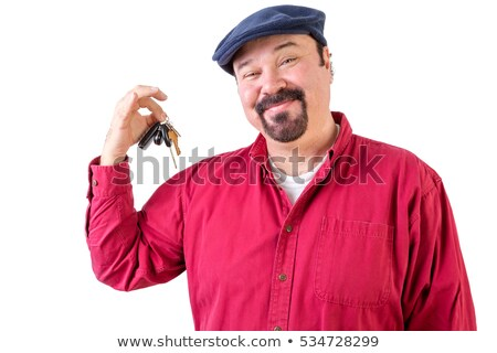 Proud privileged man holding a bunch of car keys Stock photo © ozgur