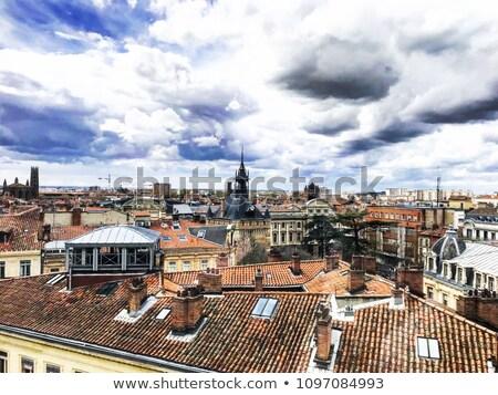 屋根 フランス 写真 フランス語 市 通り ストックフォト © oliverfoerstner