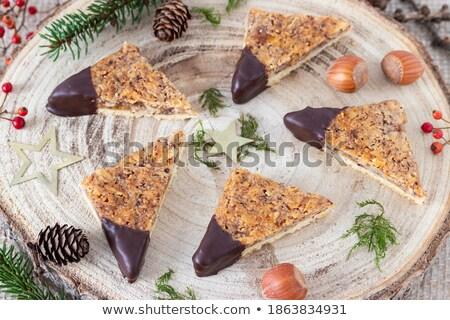 клин · шоколадом · домашний · торт · способом - Сток-фото © jarp17