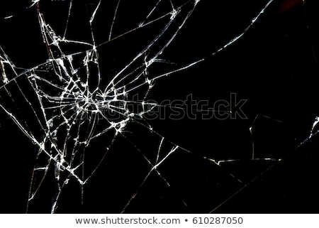 Traces of bullets shattered the glass. Stock photo © m_pavlov
