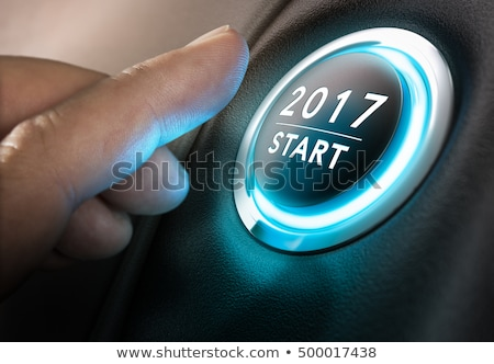 Button 2017 Stock photo © Oakozhan