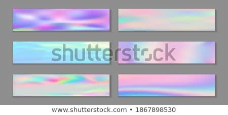 Belo holograma conjunto abstrato fundo cartão Foto stock © SArts