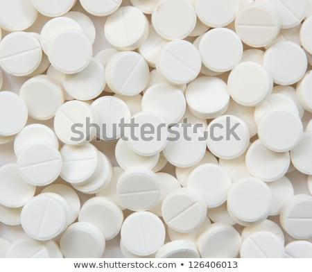 白 錠剤 孤立した 黒 ストックフォト © Klinker