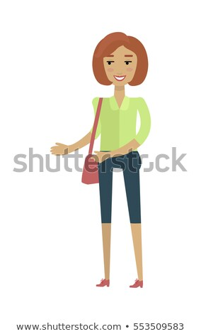 European Woman in Blouse and Breeches with Bag. Stock photo © robuart