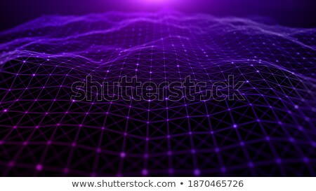 dots particles wave flowing background Stock photo © SArts