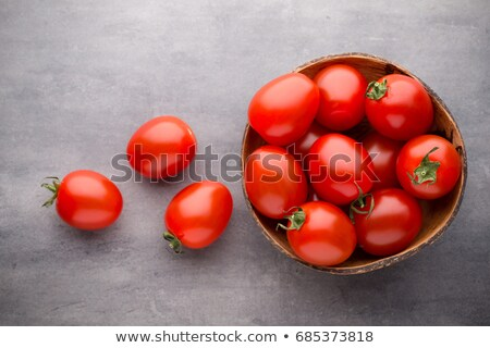 Stock photo: Three bowls of Tomatoes
