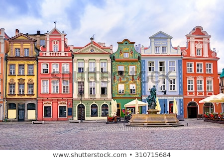 Colorful renaissance facades on the central market square in Poz Stock photo © Xantana