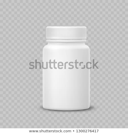 Pillen flessen witte geneeskunde glas gezondheid Stockfoto © ironstealth