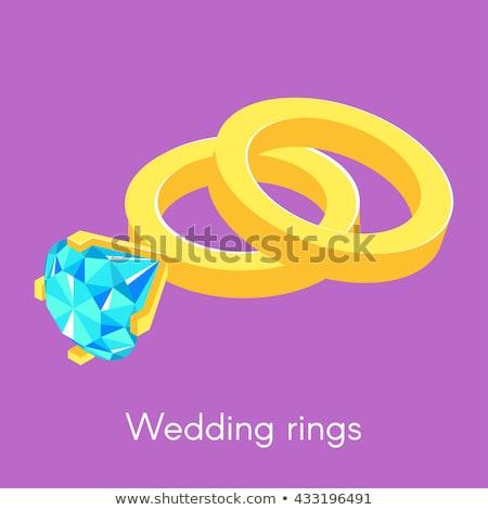 два изометрический обручальными кольцами кольца Diamond аннотация Сток-фото © curiosity