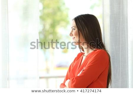 bakmak · dışarı · iyi · görünümlü · kadın · iş - stok fotoğraf © julenochek