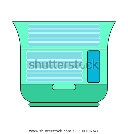 Solarium is horizontal open isolated. Apparatus for sunbathing. Stock photo © popaukropa