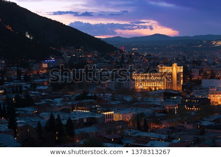 big old city at night tbilisi stock photo © tekso