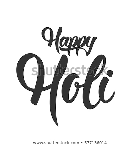 Happy holi lettering text for greeting card Stock photo © orensila