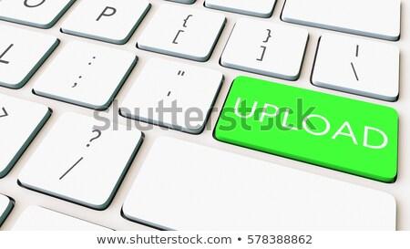 アップロード 緑 キーパッド 3dのレンダリング キーボード 選択 ストックフォト © tashatuvango