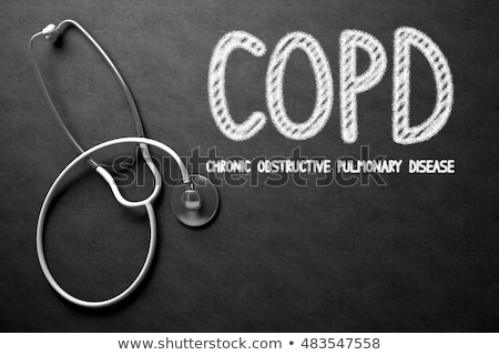 COPD Concept on Chalkboard. 3D Illustration. Stock photo © tashatuvango