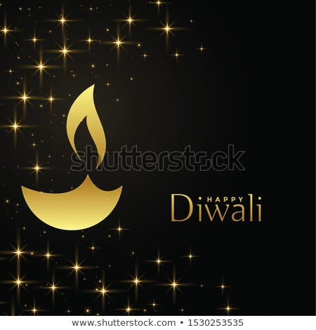 golden diya diya lamp on beautiful background Stock photo © SArts
