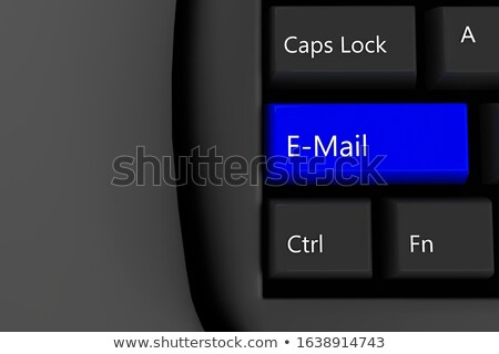 Blauw · business · mail · toetsenbord · 3D - stockfoto © tashatuvango