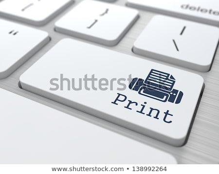 keyboard with blue keypad   3d print stock photo © tashatuvango