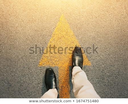 Yol yol ileri yön yaz sabah Stok fotoğraf © ixstudio