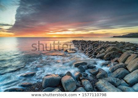 日照 · 海岸 · ビーチ · コルク · アイルランド - ストックフォト © serg64
