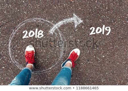 Pasado círculo año nuevo 3d fondo Foto stock © Oakozhan