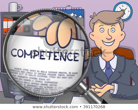 Business Literacy through Magnifying Glass. Doodle Style. Stock photo © tashatuvango