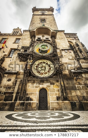 The Prague old City Hall and Astronomical clock Orloj at Old Tow stock photo © vladacanon