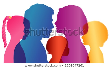 Stock photo: Portrait of a mother father and son