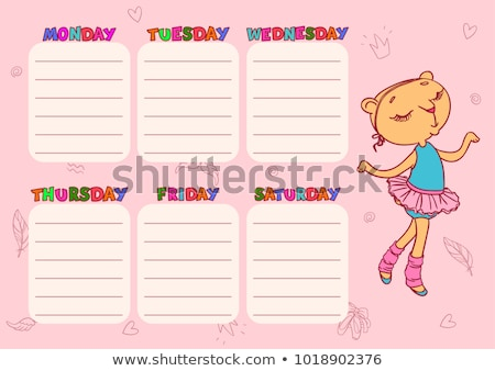 Stockfoto: Cute · school · schema · sjabloon · vector · kinderen