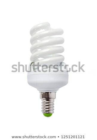 energia · takarékosság · kompakt · fluoreszkáló · villanykörte · izolált - stock fotó © givaga