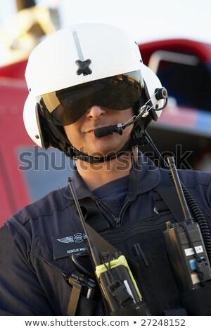 肖像 パイロット 救急医療隊員 病院 小さな 笑みを浮かべて ストックフォト © monkey_business