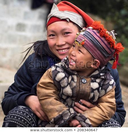 Vietnam · dorp · verbazingwekkend · landschap · rijst · velden - stockfoto © romitasromala