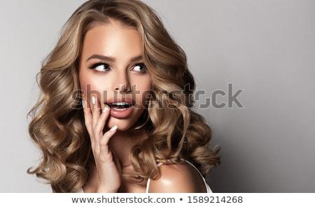 beautiful curly woman Stock photo © lubavnel