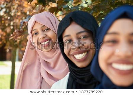 肖像 · 美しい · スマート · 小さな · ムスリム · 女性 - ストックフォト © traimak